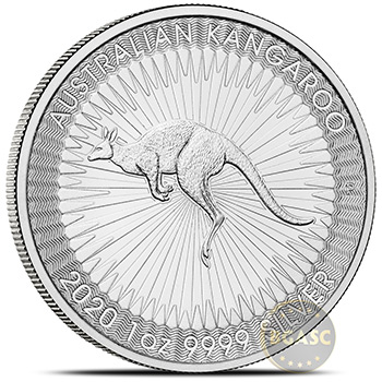2020 Australian 1 oz Silver Kangaroo .9999 Fine Brilliant Uncirculated