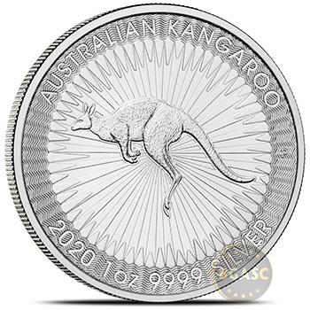 2020 Australian 1 oz Silver Kangaroo Unopened 25-Coin Roll .9999 Fine BU - Image