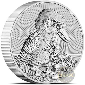 2020 2 oz Silver Australian Kookaburra Mother & Baby .9999 Fine Brilliant Uncirculated