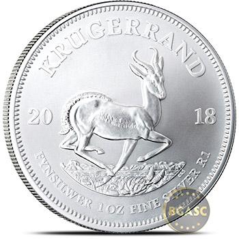 2018 1 oz Silver Krugerrand South African Bullion Coin .999 Fine Brilliant Uncirculated - Ships 08/08/2018