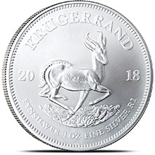 2018 1 oz Silver Krugerrand South African Bullion Coin .999 Fine Brilliant Uncirculated (First Year of Issue)