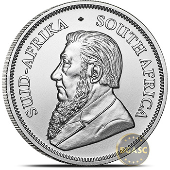 2019 1 oz Silver Krugerrand South African Bullion Coin .999 Fine Brilliant Uncirculated - Image