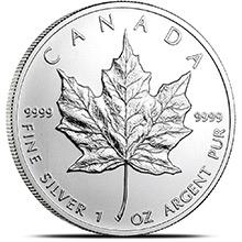 2011 1 oz Silver Canadian Maple Leaf Bullion Coin .9999 Fine Brilliant Uncirculated