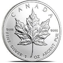 2012 1 oz Silver Canadian Maple Leaf Bullion Coin .9999 Fine Brilliant Uncirculated