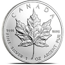 2013 1 oz Silver Canadian Maple Leaf Bullion Coin .9999 Fine Brilliant Uncirculated