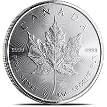 2015 1 oz Silver Canadian Maple Leaf Bullion Coin .9999 Fine Brilliant Uncirculated