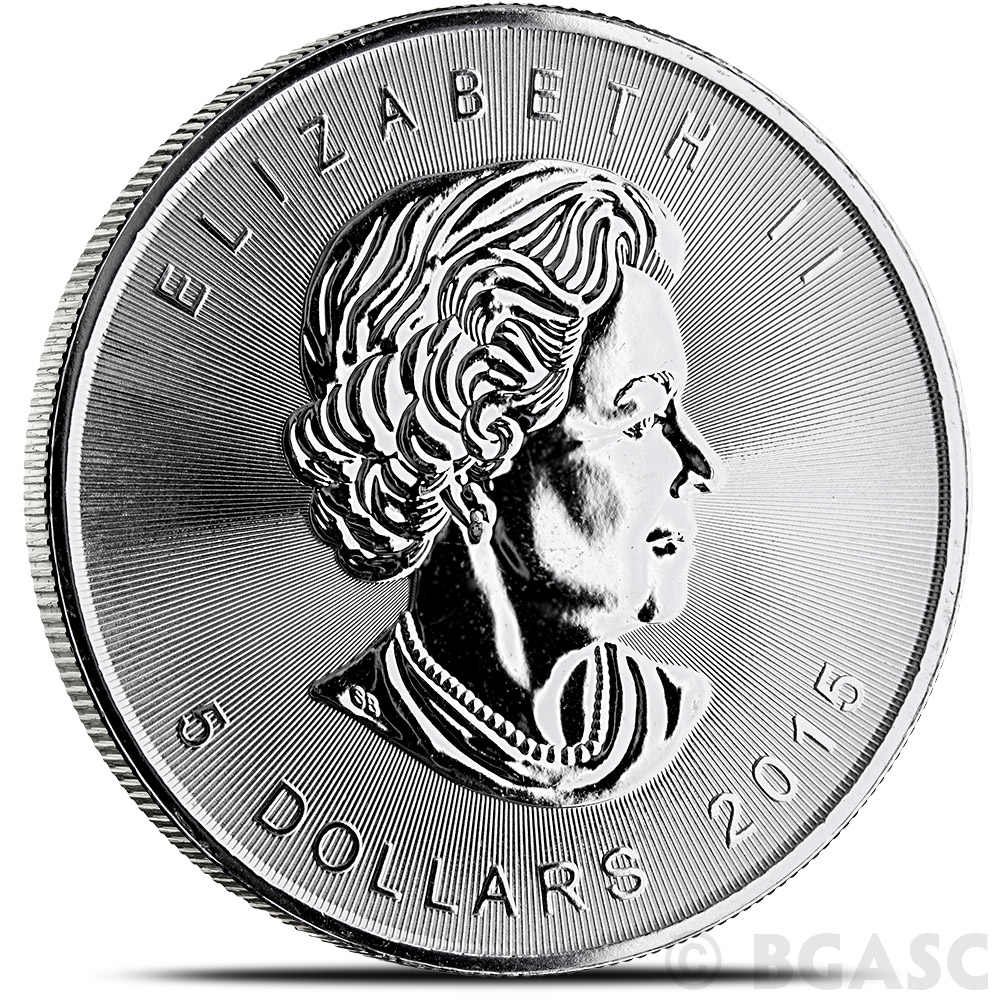 Buy 2015 1 Oz Silver Canadian Maple Leaf Bullion Coin