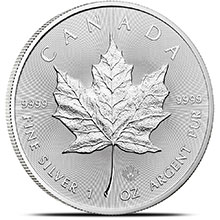 2016 1 oz Silver Canadian Maple Leaf Bullion Coin .9999 Fine Brilliant Uncirculated