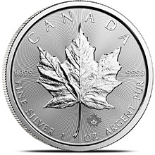 2017 1 oz Silver Canadian Maple Leaf Bullion Coin .9999 Fine Brilliant Uncirculated