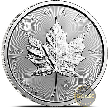 2018 1 oz Silver Canadian Maple Leaf Bullion Coin .9999 Fine Brilliant Uncirculated - Image