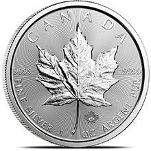 2018 1 oz Silver Canadian Maple Leaf Bullion Coin .9999 Fine Brilliant Uncirculated