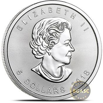 2018 1 oz Silver Canadian Maple Leaf Bullion Coin .9999 Fine Brilliant Uncirculated - Image