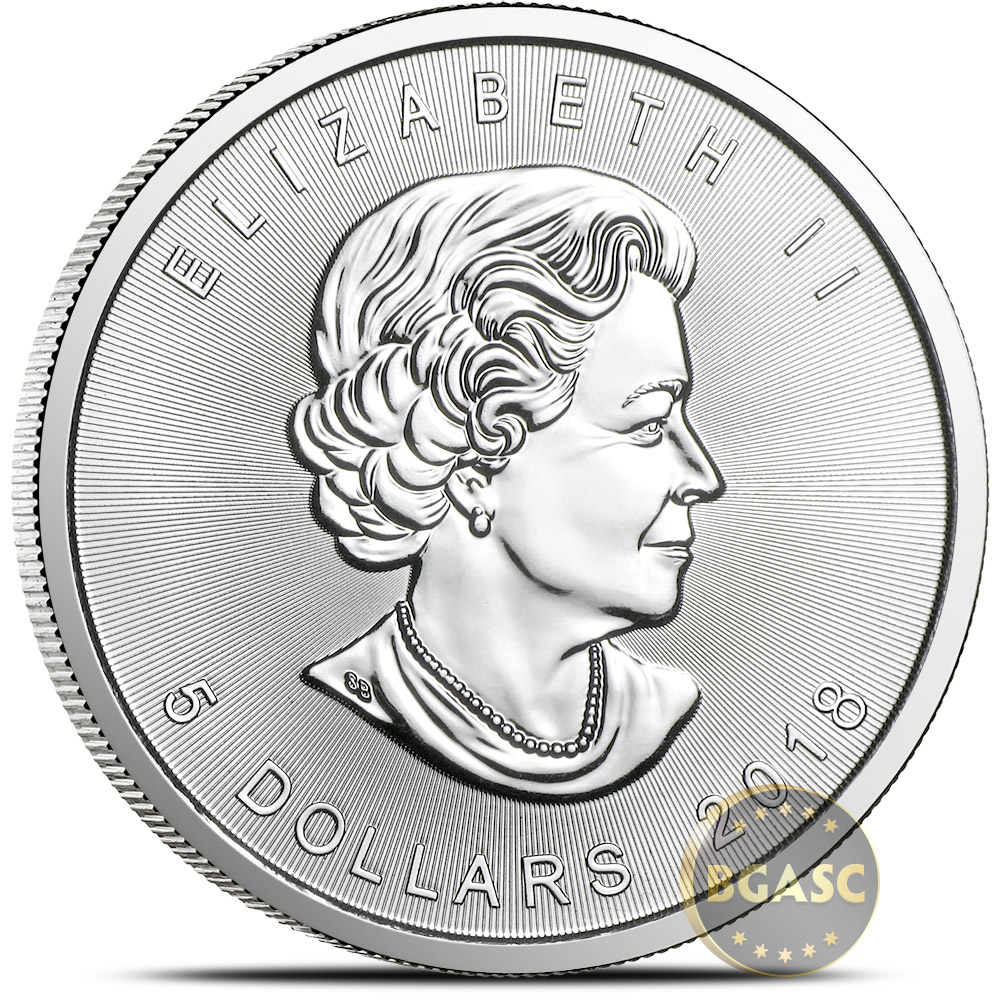 Buy 2018 1 Oz Silver Canadian Maple Leaf Bullion Coin