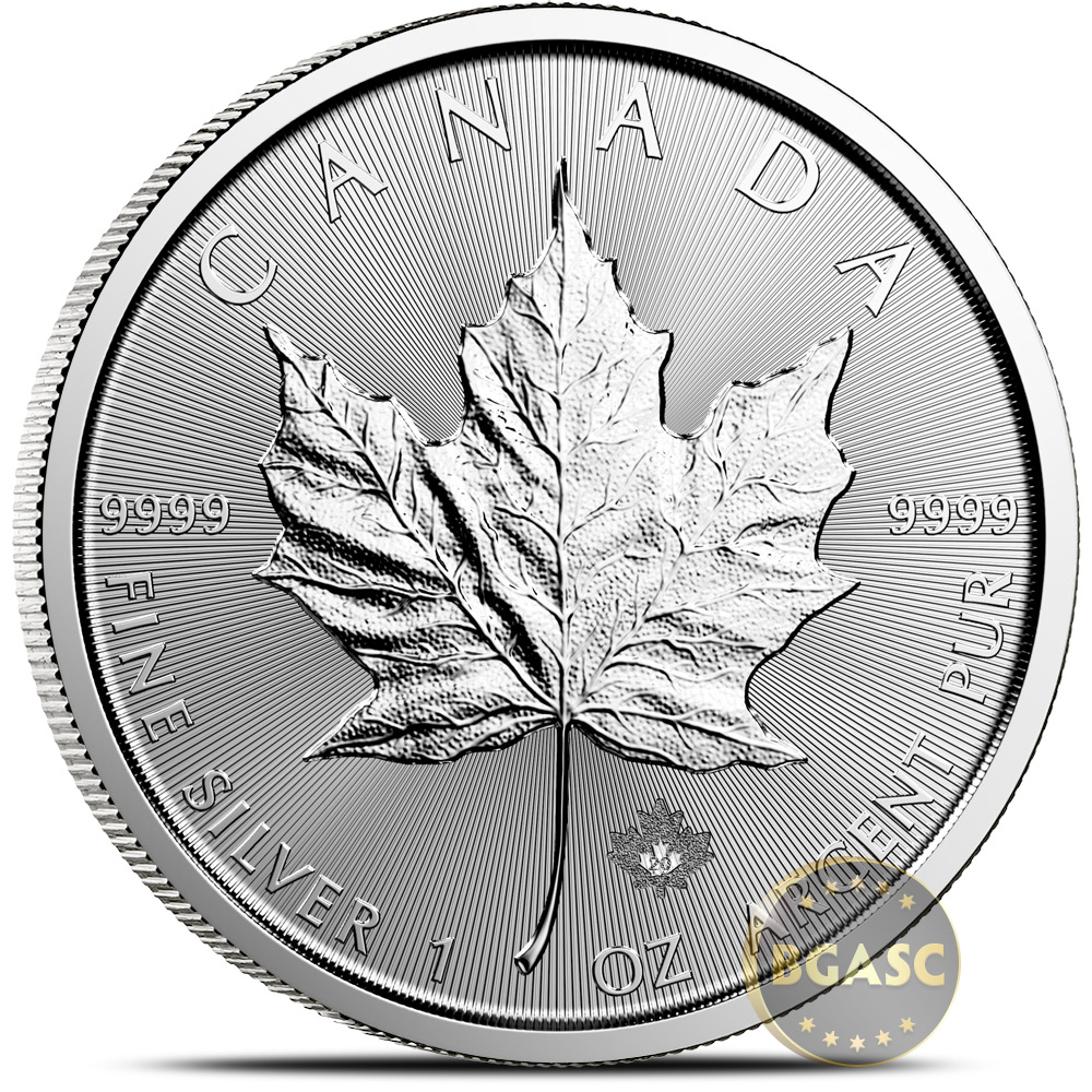 Buy 2020 1 Oz Silver Canadian Maple Leaf Bullion Coin 9999 Fine Brilliant Uncirculated Canadian Silver Coins Maple Leafs More Buy Gold And Silver Coins Bgasc Com