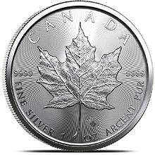 2021 1 oz Silver Canadian Maple Leaf Bullion Coin .9999 Fine Brilliant Uncirculated