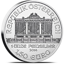 1 oz Austrian Silver Philharmonic Bullion Coin .999 Fine - Circulated (Random Year)