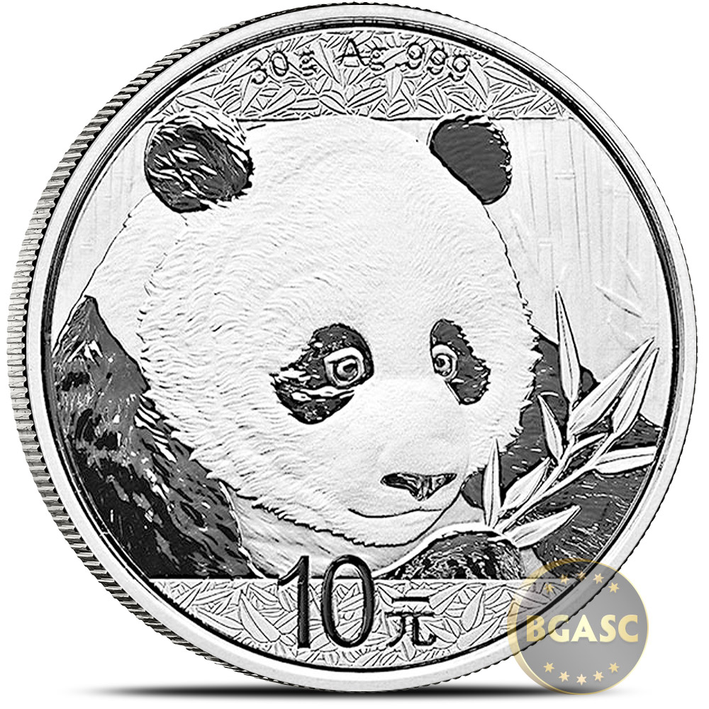 Buy 2018 30 Gram Chinese Silver Panda Coin 999 Fine 10 Yuan Brilliant Uncirculated In Capsule