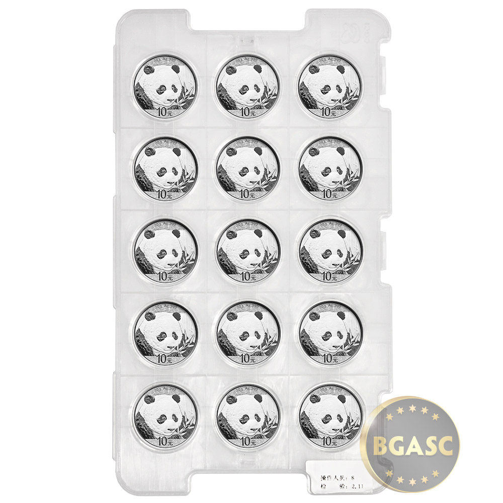 buy 2018 30 gram chinese silver panda coin  999 fine 10 yuan brilliant uncirculated  in capsule