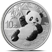 2020 30 gram Chinese Silver Panda Coin .999 Fine 10 Yuan Brilliant Uncirculated (in Capsule)