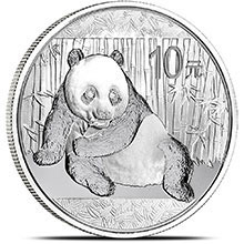 1 oz Silver Panda .999 Fine 10 Yuan Chinese Bullion Coin - Secondary Market (Random Year Previous-2015)