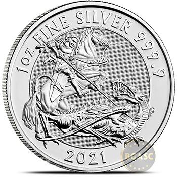 2021 1 oz Silver Valiant .9999 Fine Royal Mint Bullion Coin Brilliant Uncirculated