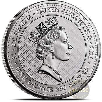 2021 1 oz Silver Queen's Virtues St. Helena Bullion Coin - Victory - Image