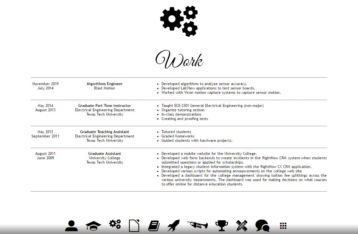 Work - as seen on a desktop