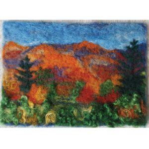 New-England-Foliage-Landscape---Wool-Fiber-Painting-by-Hillary-Dow