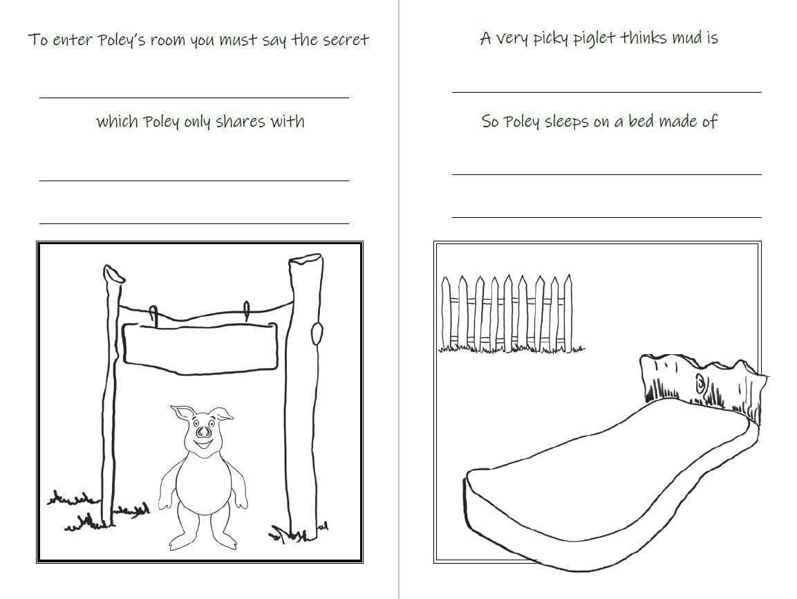 Poley the Picky eater interactive children's book
