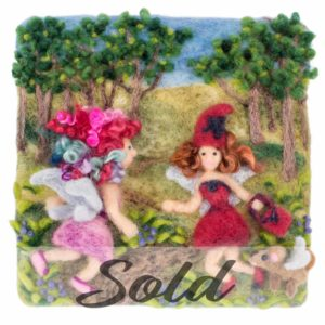Lichendia-3D-original-wool-felted-illustration-fairy-friendship-by-Hillary-Dow-SOLD