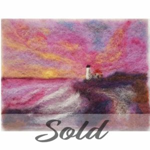 Portland-Headlight-wool-felted-illustration-by-Hillary-Dow-SOLD