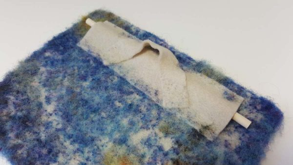 Starry Night Hillary Dow Fiber Arts Binding Tales wall decor backside loop for hanging