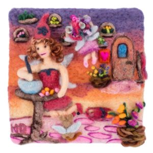 Eva's Fairy Workshop, Lichendia, Fairy Spells and Strawberry Elves by Hillary Dow