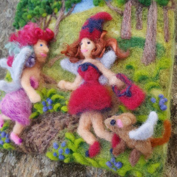 Fairy Friendship, a Lichendia children's book original illustration *Fairy Dog Detail* by Hillary Dow