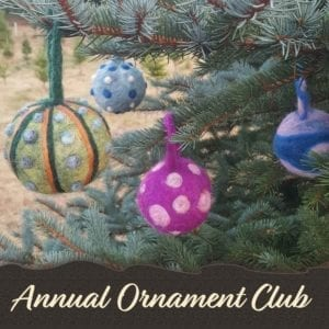 Handmade Ornament Club of Lichendia, delivered every Thanksgiving
