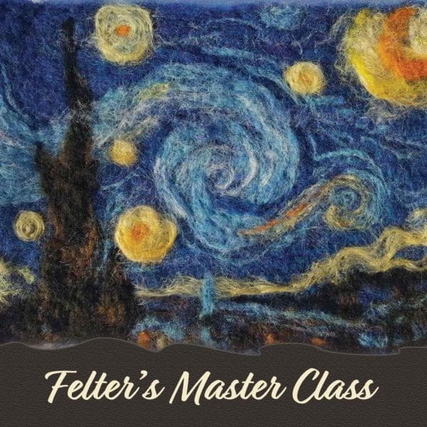 Felting master class with artist and instructor Hillary Dow Starry Night