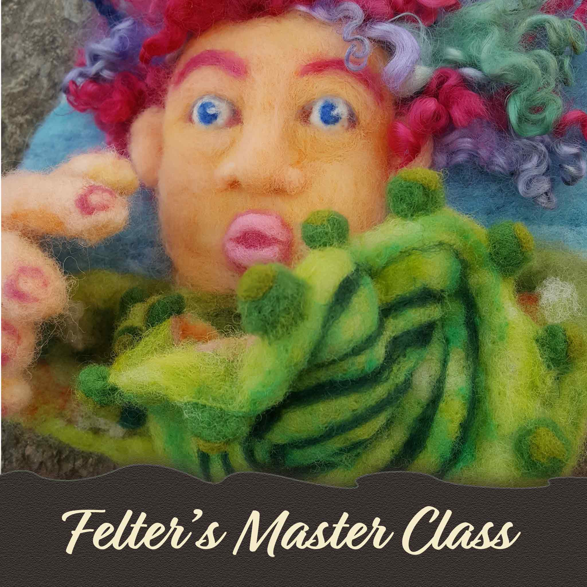 Felting master class with artist and instructor Hillary Dow Mermaid