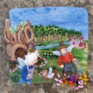 Babcia and Dziazia's Garden Felted Fairyland Illustration by Hillary Dow