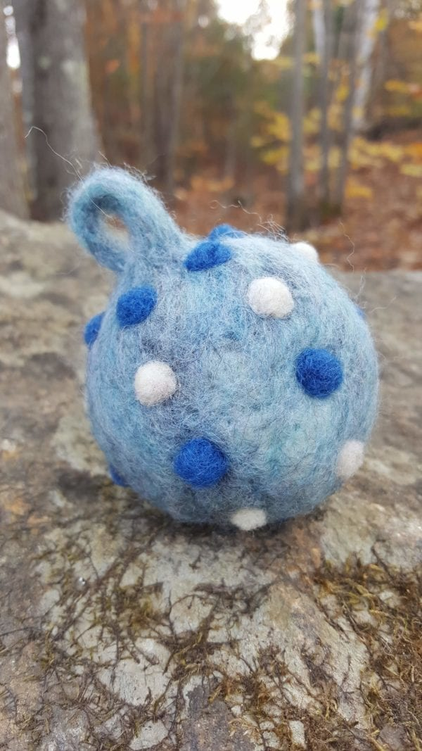 Handcrafted-Felted-Ornament-Ball-Oceane-Lichendia-Hillary Dow