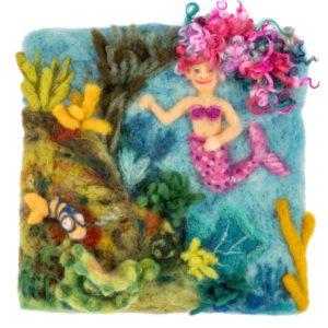 Underwater Mermaid Lichendia, Fairy Spells and Strawberry Elves by Hillary Dow