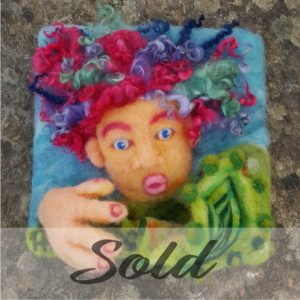 Lichendia-3D-original-wool-felted-illustration-mermaid-and-magic-shell-by-Hillary-Dow-SOLD