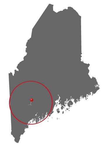 Author Visits Maine-50-mile-radius-of-Lewiston-Map