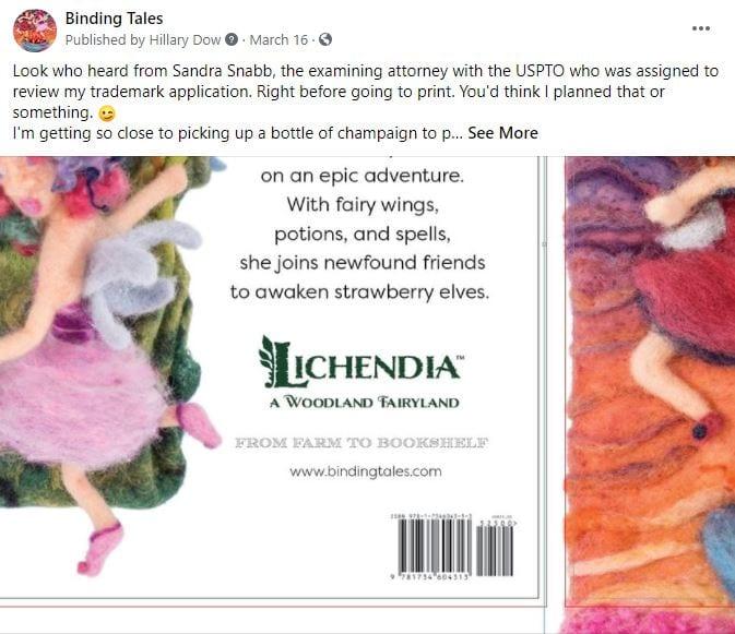 Maine-Indie-Author-Hillary-Dow-USPTO-trademark-Lichendia