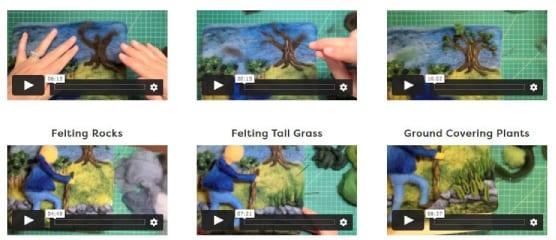 Felting-Master-Class-video-tutorials-trees-grass-plants