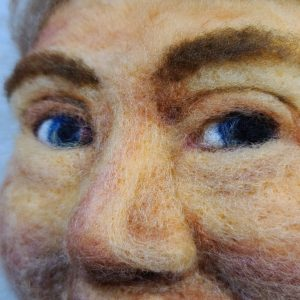 Felted portrait commissions by Hillary Dow