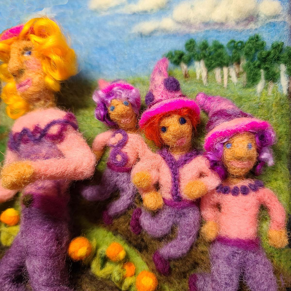 Needle Felted Elves and fairies by Hillary Dow