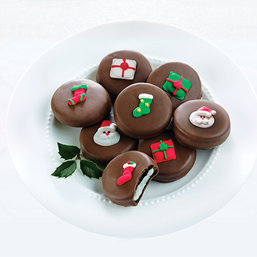 Chocolate-Covered Christmas Cookies