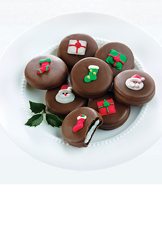 Chocolate-Covered Christmas Cookies - Dark Chocolate