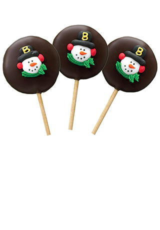 Holiday Molasses Caramel Lollies