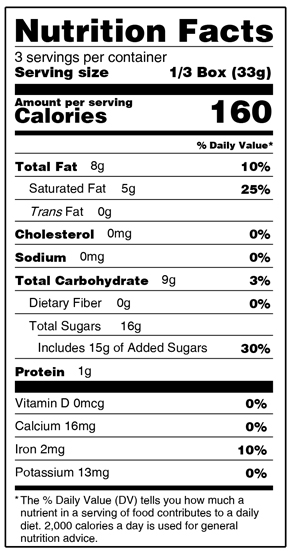 Dark Blueberries Nutrition Facts